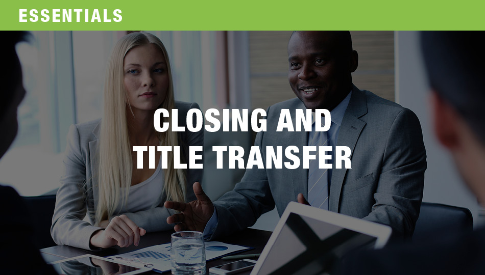 Closing and Title Transfer