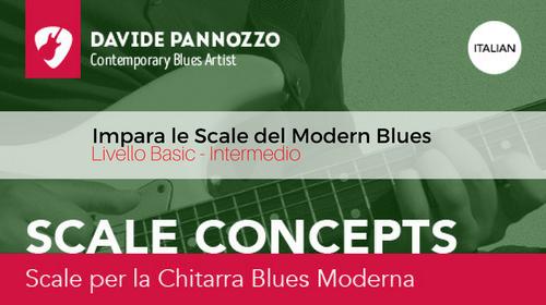 Scale Concepts: Scale per la Chitarra Blues Moderna (Italiano)