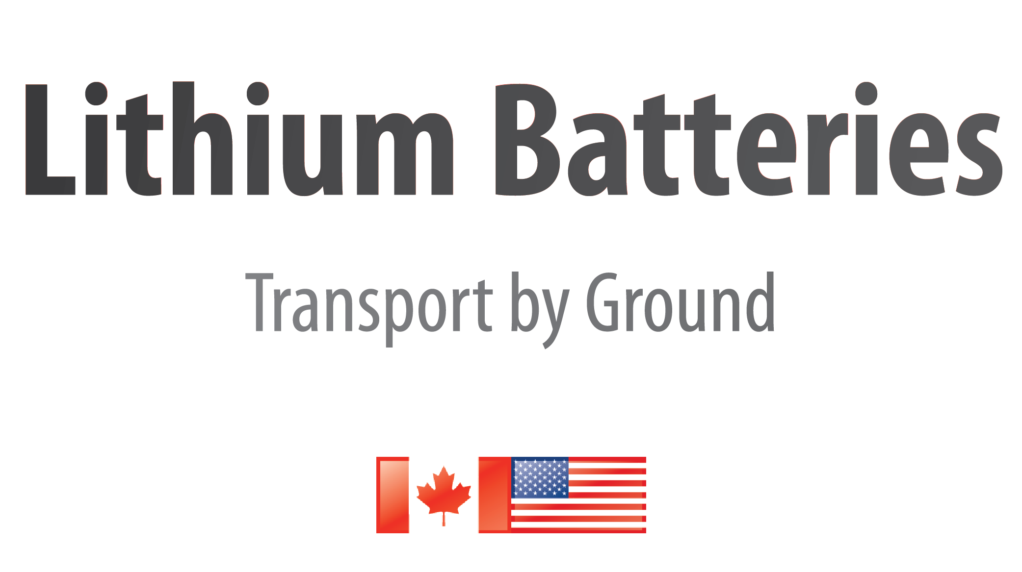 Small Lithium Batteries by Ground in North America