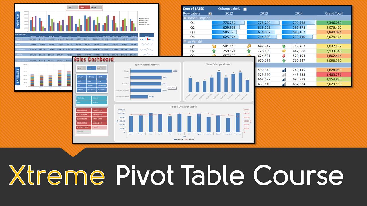 Excel pivot table online course baditri Choice Image