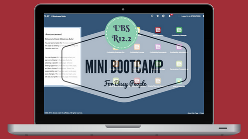 Oracle E-Business Suite (EBS) R12.2 Financials Mini Bootcamp