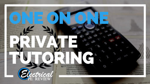 One on One Private Tutoring (Electrical PE exam)