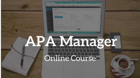 apa managers certification