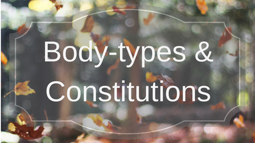 Body-types & Constitutions 2015