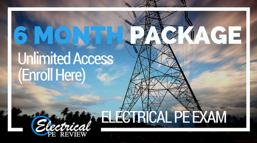 Unlimited 6 Month Package (Electrical PE Exam)