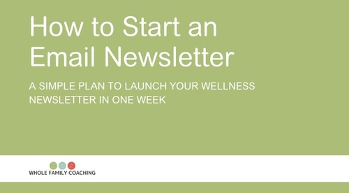 Start an Email Newsletter