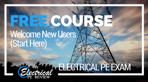 Free Online Review Course (Electrical PE exam)