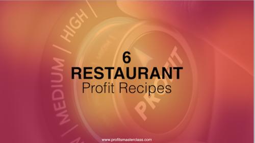 6 Restaurant Profit Recipes