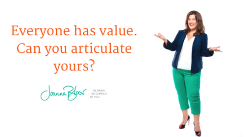 Image of Everyone has value. Can you articulate yours? course