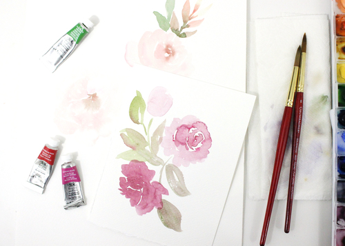 Intro to Watercolor Floral - Roses