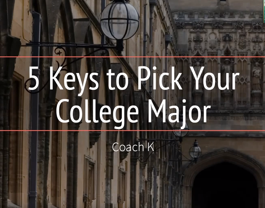 5 Keys to Pick Your College Major