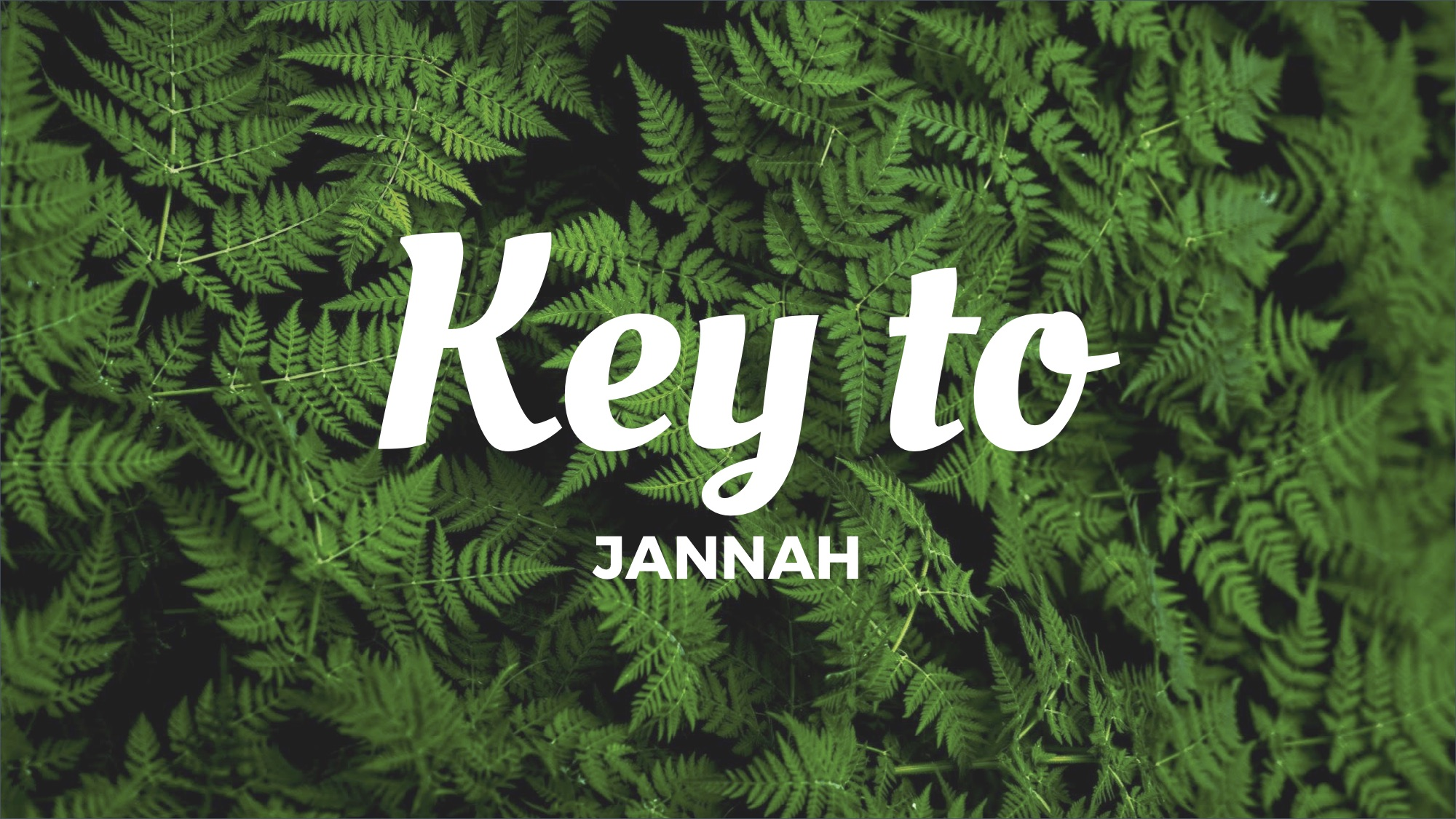 The Key to Jannah by Ustadh Muhammad Tim Humble
