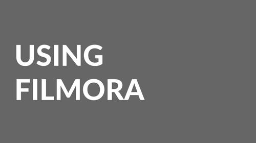Use Filmora