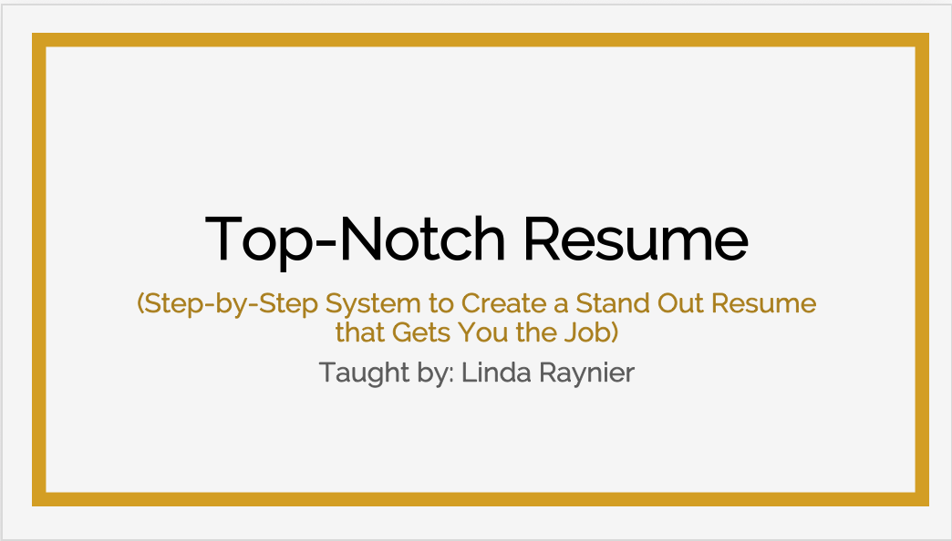 top notch resume