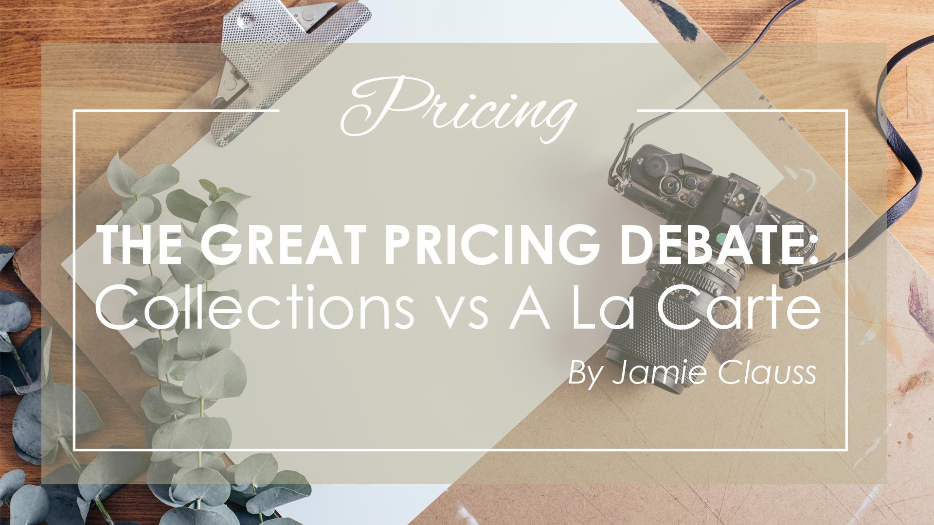 The Great Pricing Debate: Collections Vs Ala Carte