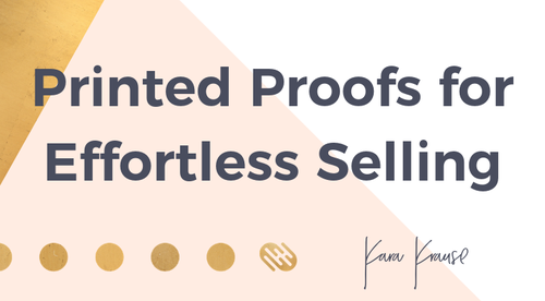 Printed Proofs for Effortless Selling