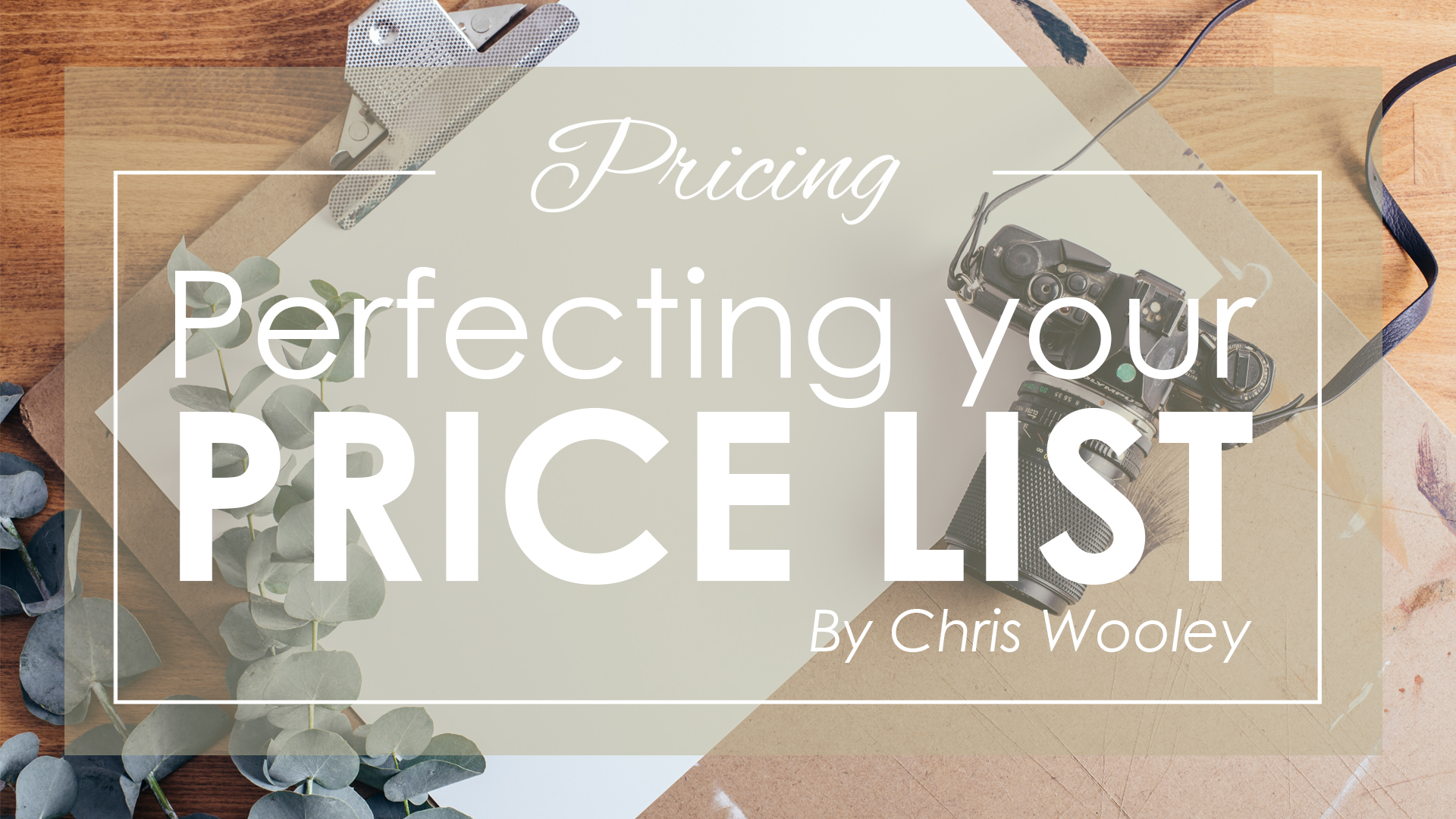 Perfecting your Price List