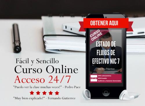 ESTADO DE FLUJOS DE EFECTIVO NIC 7