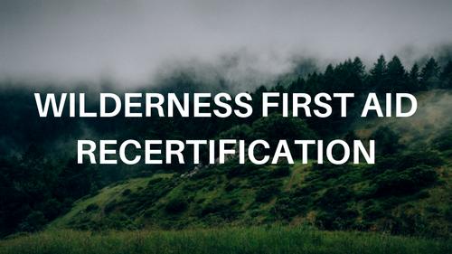 Online Wilderness First Aid Recertification