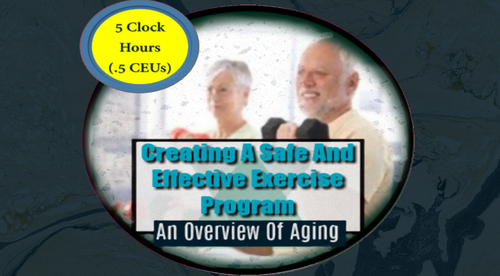 Creating A Safe And Effective Exercise Program: An Overview Of Aging