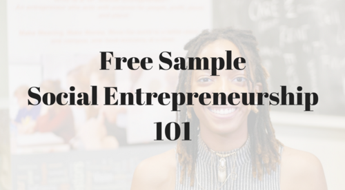 Free Sample - Social Entrepreneurship 101