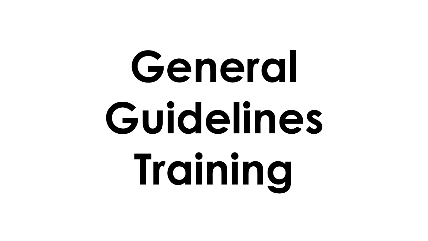 General Guidelines - Free Training Questions & Answers
