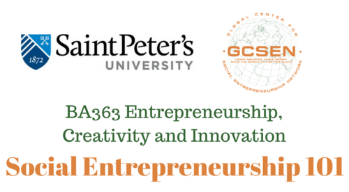SE 101 - St. Peter's BA363 Entrepreneurship, Creativity, and Innovation