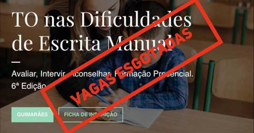 TO nas Dificuldades de Escrita Manual - Guimarães - 22/23.Set.2018