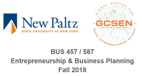SUNY New Paltz Business Formulation Toolkit - BUS 457 / 587 Entrepreneurship and Business Planning