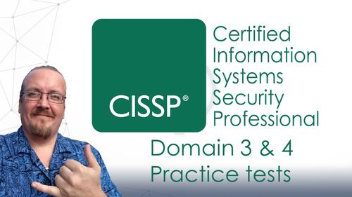CISSP certification practice questions for Domain 3 & 4 - 2018 version - Lifetime access.