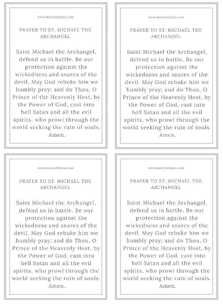 Saint Michael Archangel prayer