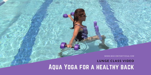 Aqua Yoga for a Healthy Back Lunge Sequence