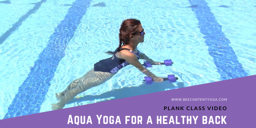 Aqua Yoga for a Healthy Back Plank Sequence