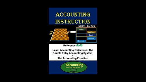 E-Book - Accounting Instruction Reference #100: Learn Accounting Objectives, The Double Entry Accounting System, & The Accounting Equation