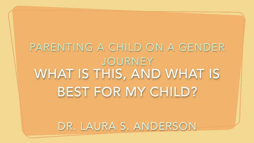 Foundations In Gender: How Do I Understand All This and What Is Best For My Child? (Accelerated)