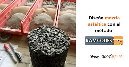 Diseña mezclas asfálticas con el método RAMCODES