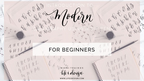 Introduction to Modern Calligraphy Using a Dip Pen and Ink for Beginners online class