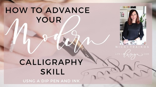 How to Advance your Modern Calligraphy Skill