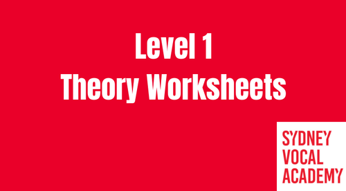 Level 1 Theory Worksheets