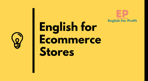 English for Ecommerce