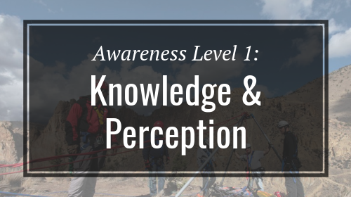 Awareness Level 1: Knowledge & Perception