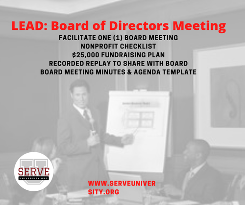 LEAD Your Board of Directors Meeting