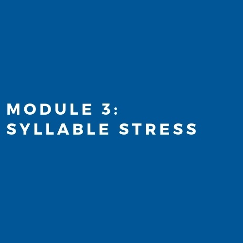 Module 3: Syllable Stress in Words (2019)