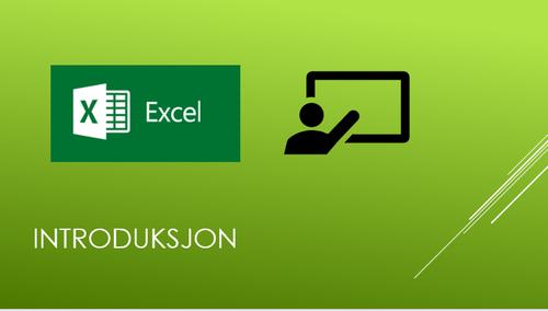 Excel introduksjon for nybegynnere