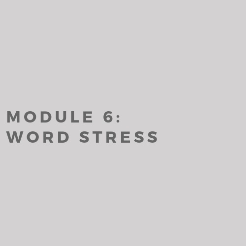 Module 6: Word Stress in Sentences (2019)