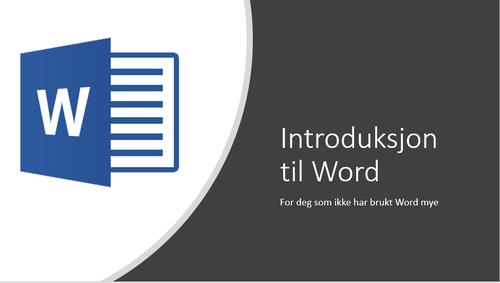 Introduksjon til Word