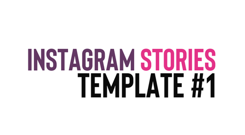 Editable Instagram Stories Template #1