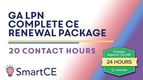 GA LPN - Complete CE Renewal Package: 20 Contact Hours /20-619798