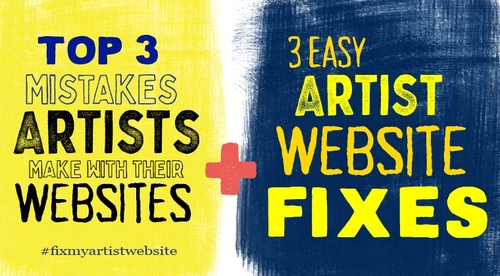3 Artist Website Fixes
