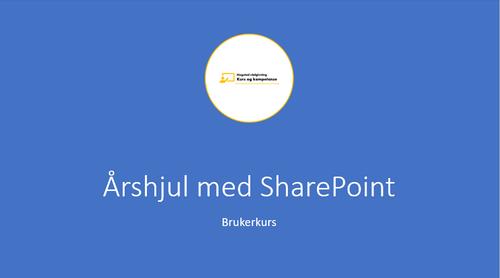 Lag et årshjul med SharePoint